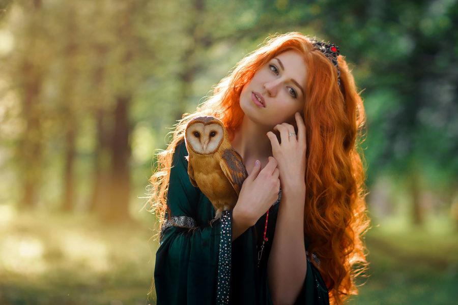Лесная фея с ручной совой в объективе Тины Грей